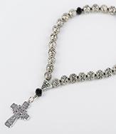 Четки №30 из металла с крестом