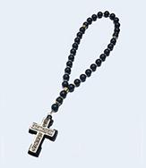 Четки №30 из Шунгита  молитвой в кресте