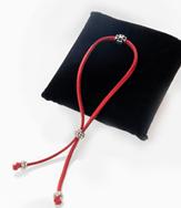 Браслет-шнурок с крестом
