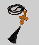 Крест наперстный из дерева и камня с кистью