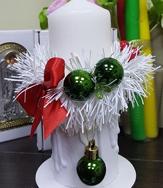 Подсвечник Рождественская свеча